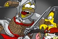 Picture Assassin's Creed, Homer, Ned Flanders, The simpsons, Homer Simpson, Art