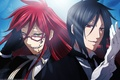 Picture demon., green, Sebastin, dark Butler, red hair, guys, anime