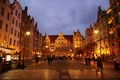 Picture lights, street, Poland, night, Gdansk, home
