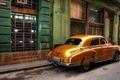 Picture retro, street, Havana, Cuba, home, car, Windows