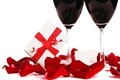 Picture gift, Valentine's Day, wine, roses, love, romantic, glasses, love, heart