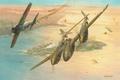 Picture aviation, ww2, painting, Mitsubishi A6M5 Reisen, dogfight, Lockheed P-38 Lightning, art, combat, war