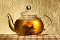 Picture kettle, knitted, tea, Chinese, Mat, Lotus, flower