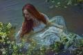 Picture girl, Save me, art, fantasy, Agnieszka Lorek, in the water, Olivia Styczyńska