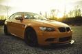 Picture e92, front view, reflection, orange, orange, BMW, BMW