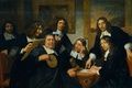 Picture portrait, picture, Jan de Bray, The Board members of the Guild of Saint Luke in ...