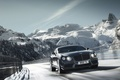 Picture snow, mountains, road, trees, car, machine, sky, snow, speed, 2012 Bentley Continental GT V8, 2695x2000, ...