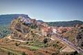 Picture cars, Spain, home, trees, road, Castellon de La Plana, street, rocks, the sky, terrace