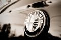 Picture macro, sign, Alfa Romeo