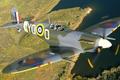 Picture retro, the plane, flight, propeller, landscape, fighter, pilot