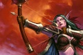 Picture Bow, Elf, World of Warcraft, Trading Card Game, Hunter