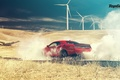 Picture Top Gear, Dodge, Challenger, Red, Smoke, Hellcat, SRT, Rear, 2015