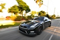 Picture speed, day, supercar, black, R35, Nissan GTR