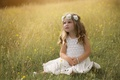 Picture mood, meadow, girl, wreath
