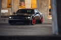 Picture Dodge Challenger, HellCat, black, tuning, SRT, Liberty Walk