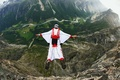 Picture wingsuit, mountains, helmet, extreme sports, pilot, base jumping, parachute, Norway, container, valley, river
