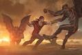 Picture the demon, art, mortal Kombat 10, Mortal Kombat x, Liu Kang