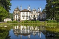 Picture reflection, architecture, Portugal, trees, the bushes, mansion, Portugal, Vila Real, Vila Real, water, greens, house, ...