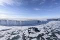 Picture sea, the sky, snow, ice, Franz-Joseph