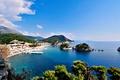 Picture sea, Islands, the city, coast, Greece