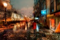 Picture November, The Canal, Saint Petersburg, autumn, rain
