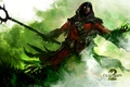 Picture staff, Guild Wars 2, Green, The sorcerer
