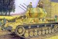 Picture tank, Flakpanzer IV Ausf G Wirbelwind, ww2, weapon, painting, war, art