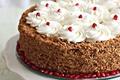 Picture cake, cream, cakes, garnet