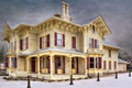 Picture vintage, restored house, beautiful, Brampton, Canada, architecture, houses, Ontario