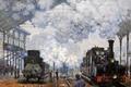 Picture Claude Monet, picture, genre, The Station Saint-Lazare