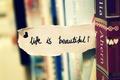 Picture macro, books, life, note, heart, wardrobe, the phrase, the inscription