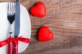 Picture plug, hearts, romantic, knife, bow, serving, love, heart