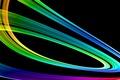 Picture rainbow, vector, gradient, line
