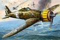 Picture sea, the sky, fighter, battle, art, boat, Italian, C.200, Macchi, Saetta, McKee, WW2., single, Saetta, ...