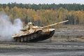 Picture beauty, T-90, UVZ, power, jump, Russia, military equipment, tank