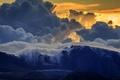 Picture Maui, Haleakala, mountains, landscape, clouds