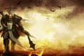 Picture crows, battlefield, shield, knight, Mace, battlefield, Diablo, shield, knight, Crusader, crusader, chain, crows, Reaper of ...