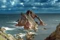 Picture sea, wave, beach, clouds, clouds, rocks