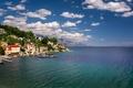 Picture Adriatic Sea, mountains, Croatia, coast, sea, village, The Adriatic sea, Omiska Riviera, Omis Riviera, Mimice ...