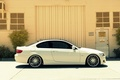 Picture BMW, BMW, profile, white, white, E92, 328i, The 3 series, MRR Wheels