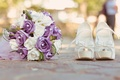 Picture ring, bouquet, shoes white