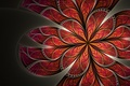 Picture flower, pattern, petals, art, red