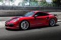 Picture red, Coupe, TechArt, coupe, turbo, Porsche, 911, Porsche, Turbo