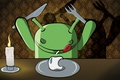 Picture apple, candle, art, plate, knife, plug, android, dinner