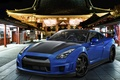 Picture night, blue, Nissan GTR