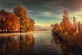 Picture Switzerland, lake, Park, mountains, trees, landscape