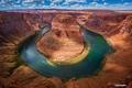 Picture Colorado, canyon, Horseshoe (Horseshoe Bend), AZ, state, the sky, river, clouds, USA