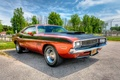 Picture 1970, HDR, Dodge Challenger, the front, Dodge Chelenzher