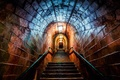 Picture color, ladder, light, the tunnel, corridor, ramp, railings