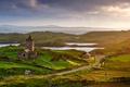 Picture nature, Scotland, the Isle of Harris, Rodel, the ancient Church